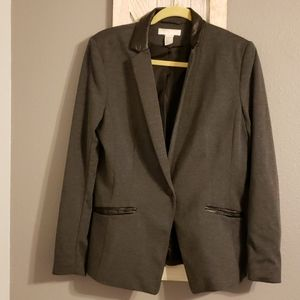 H&M Faux Leather Trimmed Blazer Size 12